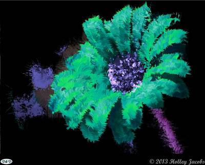 Digital Art - The Dance Teal by Holley Jacobs