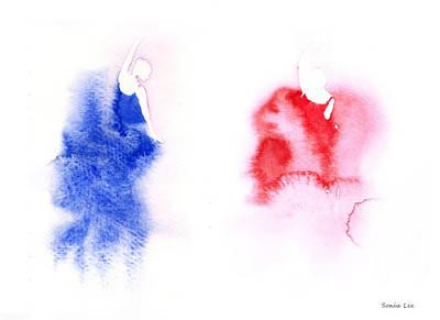 The Dancers Art Print by Sonia Lee
