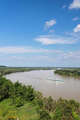 Hungary Tourism Photograph - The Danube Near Dunaszekcsoe, View by Martin Zwick