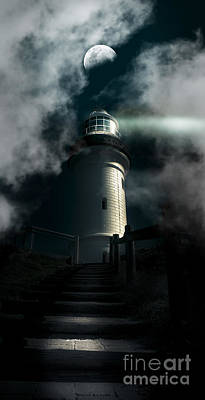 The Dark Atmospheric Lighthouse Art Print by Jorgo Photography - Wall Art Gallery