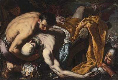 King Painting - The Death Of King Josiah by Celestial Images