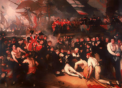 Battle Of Trafalgar Painting - The Death Of Nelson by Mountain Dreams