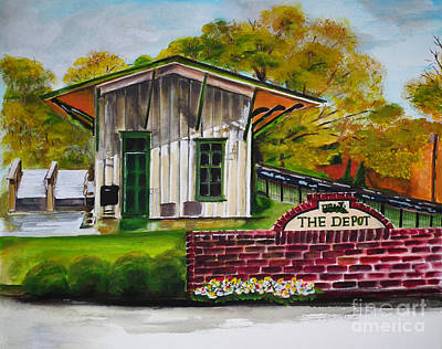 Painting - The Depot - Kennesaw Ga -big Shanty by Jan Dappen