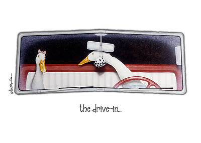 Drive In Painting - The Drive-in... by Will Bullas