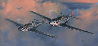 Military Aviation Art Painting - The Duxford Boys by Wade Meyers