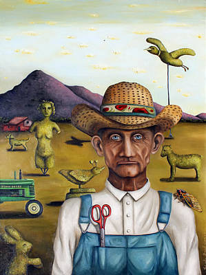 Old Barn Painting - The Eccentric Farmer by Leah Saulnier The Painting Maniac