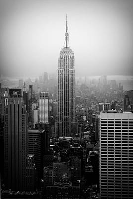 Nyc Photograph - The Empire State Building In New York City by Ilker Goksen