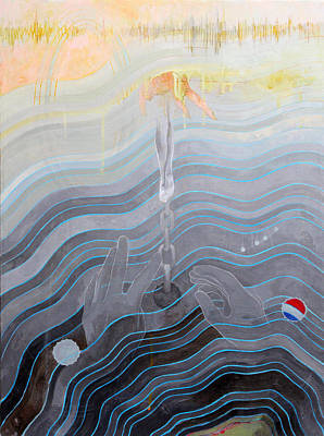 Contemporary Wall Art - Painting - the escape of Ray Charles by Sandra Cohen