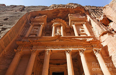 The Facade Of Al Khazneh In Petra Jordan Art Print by Robert Preston