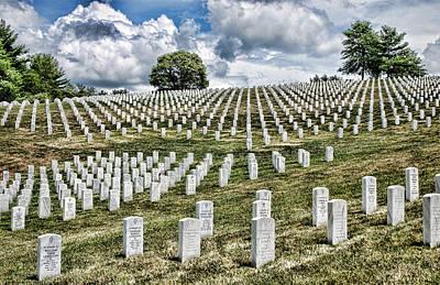 National Cemetery Digital Art - The Fallen by Anita Hubbard