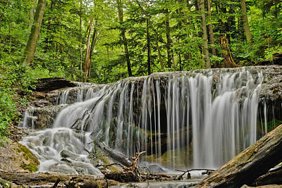 Photograph - The Falls On Weavers Creek In Owen Sound Ontario Canada by Marek Poplawski