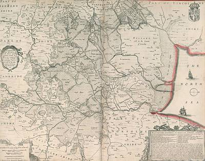 Cartography Photograph - The Fens by British Library