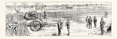 South Africa Drawing - The Fighting Between Portuguese And British South Africa Co by South African School