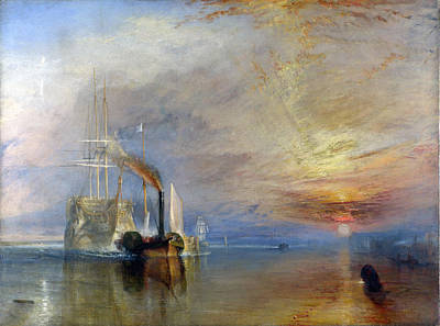 Turner Artwork Painting - The Fighting Temeraire Tugged To Her Last Berth To Be Broken Up by Celestial Images