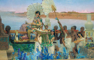 Tadema Painting - The Finding Of Moses by Lawrence Alma-Tadema