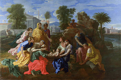 Religious Artist Painting - The Finding Of Moses by Nicolas Poussin