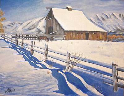 The First Snow Art Print by Jim  Reale