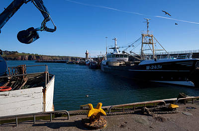Fishing Harbour Photograph - The Fishing Harbour, Dunmore East by Panoramic Images