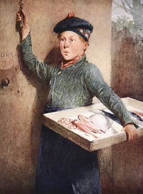Bell Drawing - The Fishmongers Call by Henry Benjamin Roberts