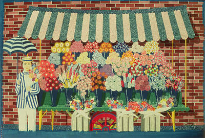 The Flower Man Art Print by Peter Szumowski