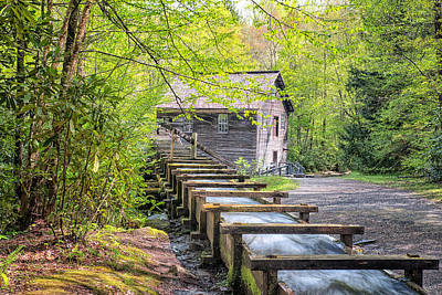 Photograph - The Flume At Mingus Mill by Victor Culpepper