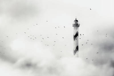 Beacon Wall Art - Photograph - The Fog by Piet Flour