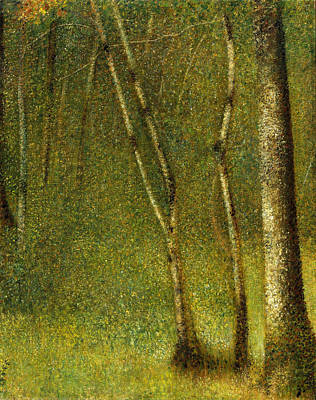 Painting - The Forest At Pontaubert by Georges Seurat