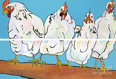 Painting - The Four Clucks by Pat Saunders-White