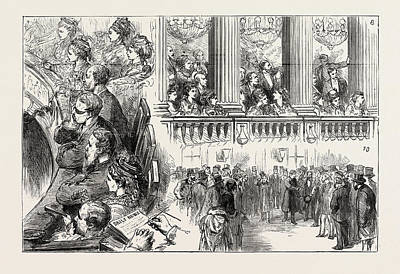 Crisis Drawing - The French Crisis, Sketches At Versailles During The Recent by French School