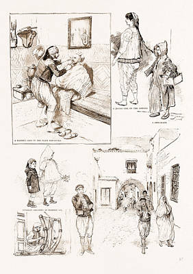 Lif Drawing - The French Occupation Of Tunis Native Character Sketches by Litz Collection