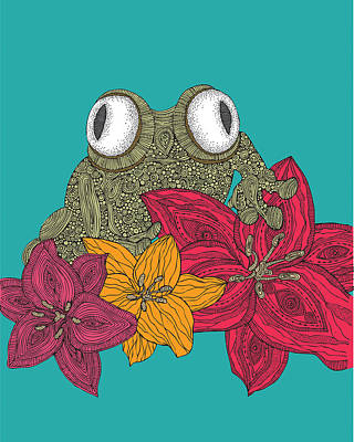 Amphibians Wall Art - Photograph - The Frog by Valentina Ramos