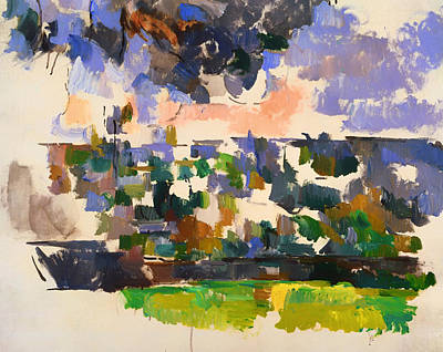 Conceptual Abstraction Painting - The Garden At Les Lauves by Mountain Dreams