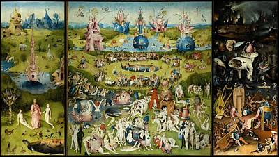 Best Sellers - Surrealism Royalty-Free and Rights-Managed Images - The Garden Of Earthly Delights by Hieronymus Bosch