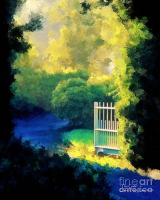 Painting - The Gate - Painting From A Photography By David Perry Lawrence by David Perry Lawrence