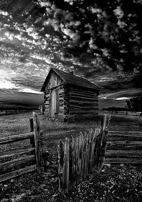 Log Cabin Photograph - The Gate by Phil Koch