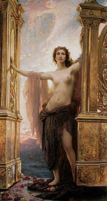 Nudes Royalty-Free and Rights-Managed Images - The Gates Of Dawn by Herbert James Draper