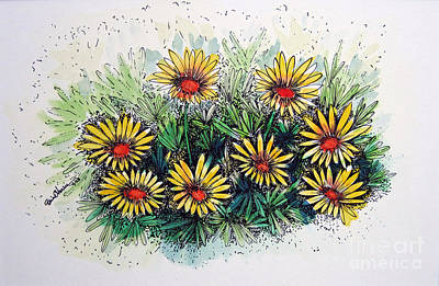 Daisy Drawing - The Gathering by Brian Edward Harris