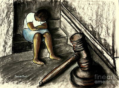 Justice Painting - The Gavel Of Justice by Ursula Reeb