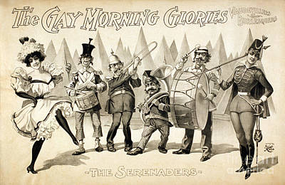 Marching Band Photograph - The Gay Morning Glories, 1898 by Photo Researchers
