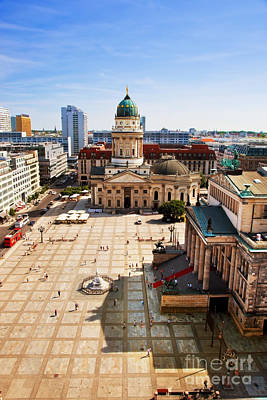 Photograph - The Gendarmenmarkt And German Cathedral In Berlin by Michal Bednarek