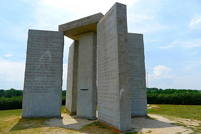 Photograph - The Georgia Guidestones by Denise Mazzocco