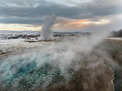 Golden Circle Photograph - The Geothermal Area Haukadalur Part by Martin Zwick