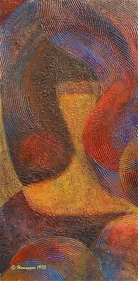 Painting - The Girl - Full Image by Hemu Aggarwal