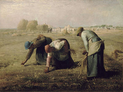 The Gleaners Painting - The Gleaners by Jean Francois Millet