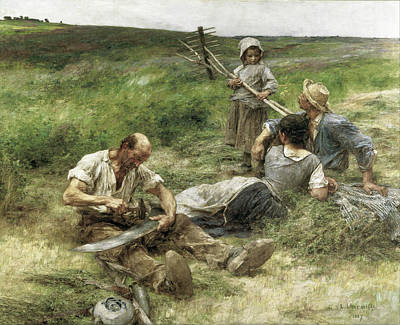Gleaners Painting - The Gleaners by Leon-Augustin Lhermitte