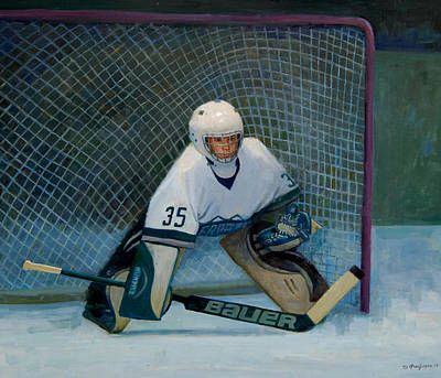Painting - The Goalie by Mel Greifinger