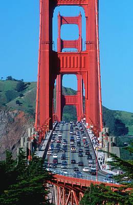 The Golden Gate Bridge And The Entrance Art Print by John Alves