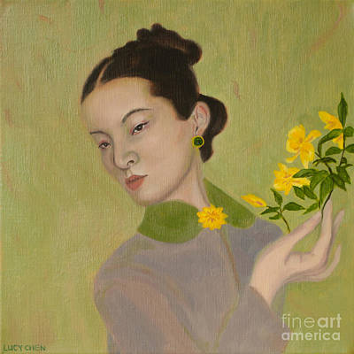 Painting - The Golden Kiss Of Spring by Lucy Chen