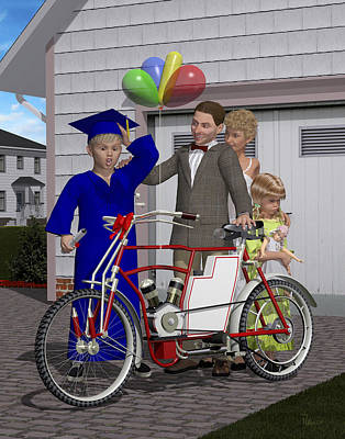 Digital Art - The Graduation Present by Rainer Freytag