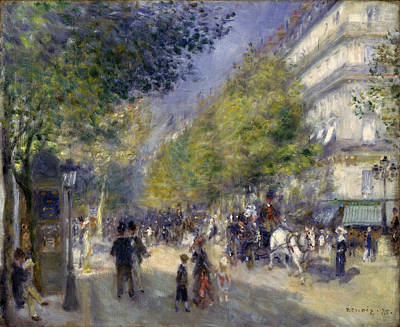 The Grands Boulevards Painting - The Grands Boulevards by Pierre-Auguste Renoir